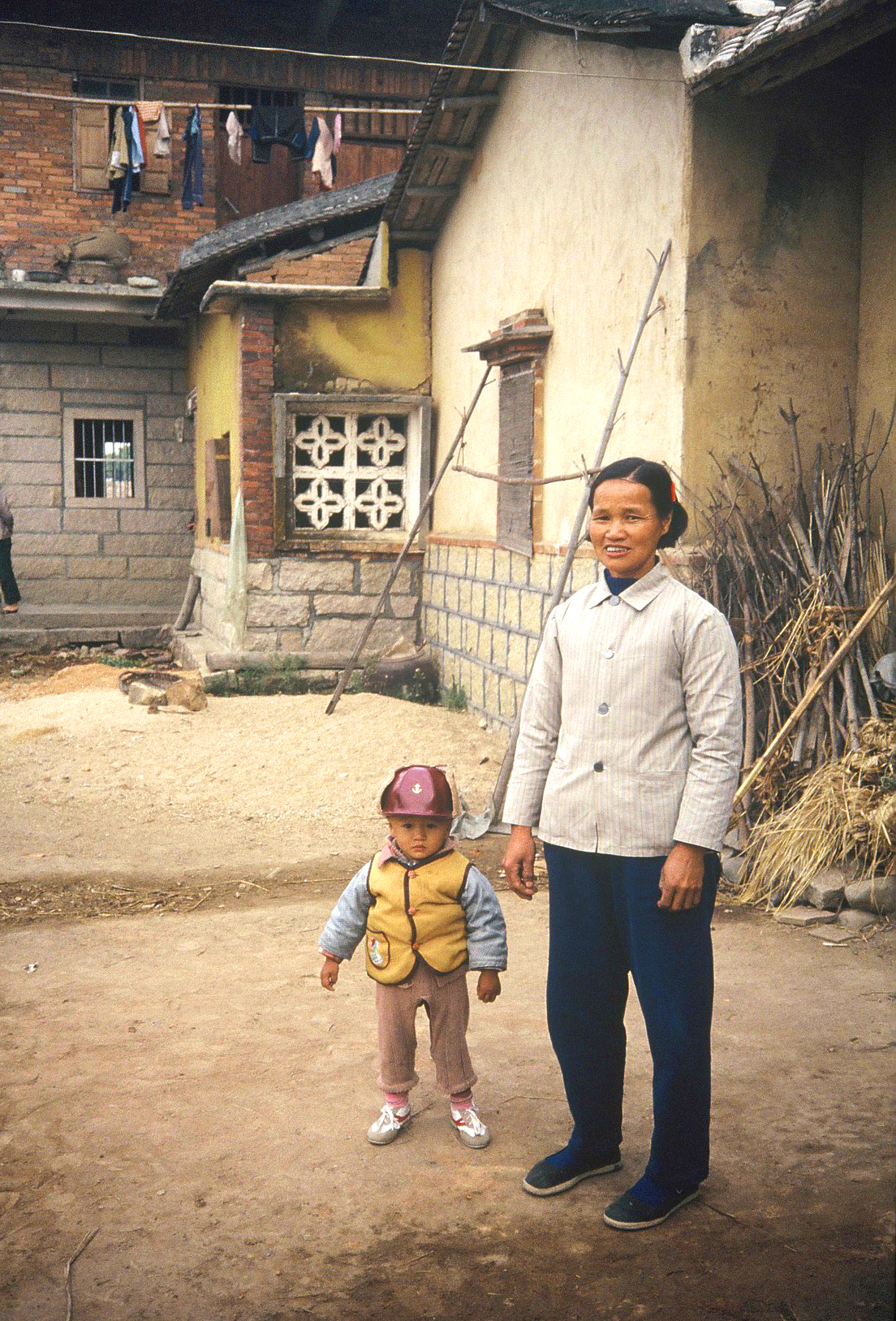 Village grandma and grandson. In 1986 Alice taught English for a semester at ...