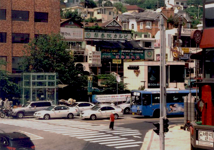 The foreigner-friendly area of Itaewon in Seoul