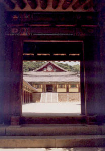 Korea/Bulguksa/temple/doorway/CarolDussere