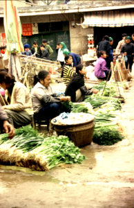 A traditional market in Guangxi Province